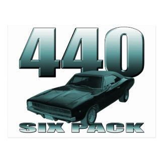 440 six pack dodge mopar charger postcard