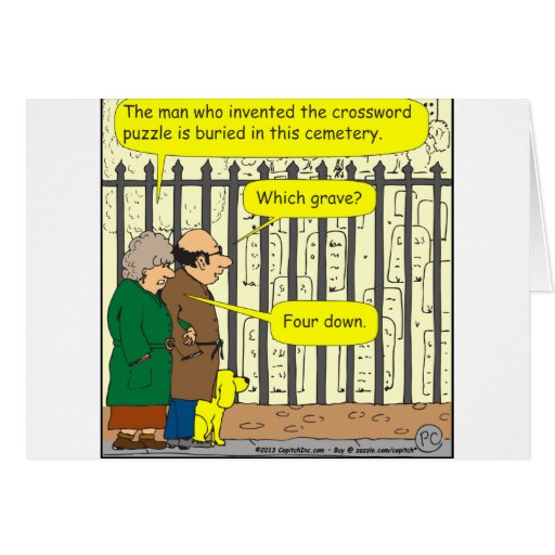 442 Where is the crossword inventor buried? Greeting Cards