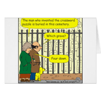442 Where is the crossword inventor buried? Greeting Card