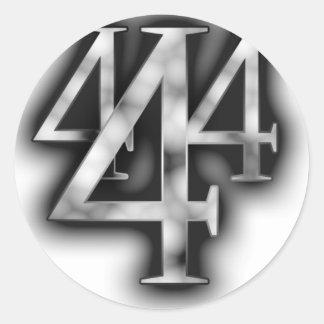 444round classic round sticker