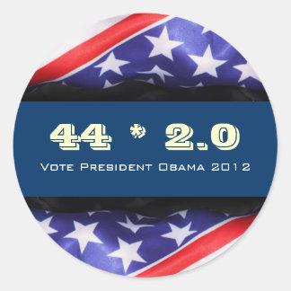 44 2.0 OBAMA 2012 Campaign Sticker