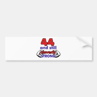 44 Birthday Design Bumper Sticker