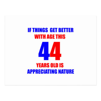 44 Birthday Design Postcard