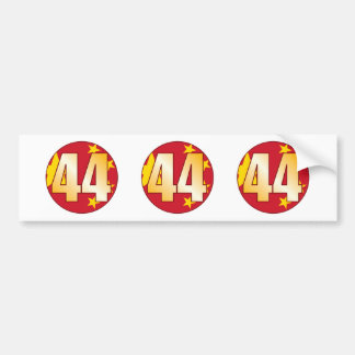 44 CHINA Gold Bumper Sticker