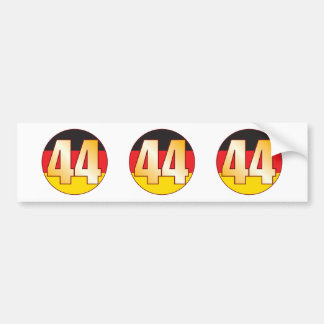 44 GERMANY Gold Bumper Sticker