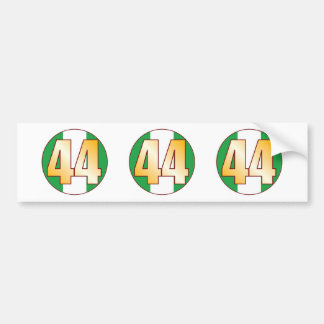 44 NIGERIA Gold Bumper Sticker