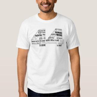 44: Obama Inauguration Headline Collage Organic T Shirts