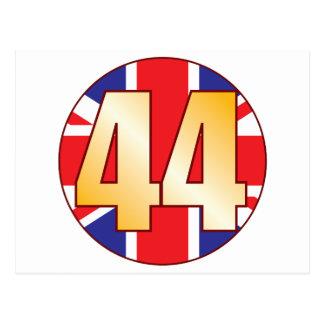44 UK Gold Postcard