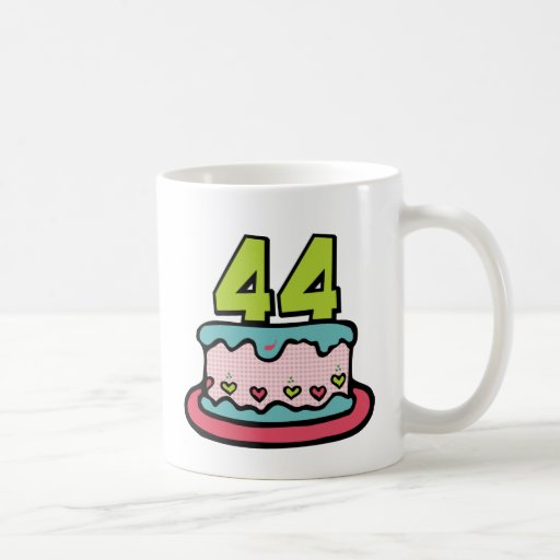 44 Year Old Birthday Cake Basic White Mug