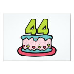 44 Year Old Birthday Cake Custom Announcement