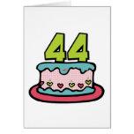 44 Year Old Birthday Cake Greeting Cards