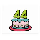 44 Year Old Birthday Cake Postcards
