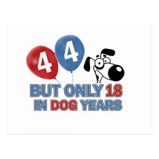 44 year old Dog years designs Postcard
