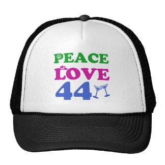 44 years Old birthday designs Cap