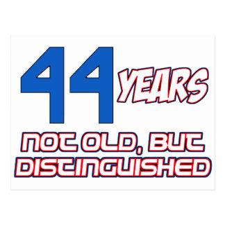 44 YEARS OLD BIRTHDAY DESIGNS POSTCARD