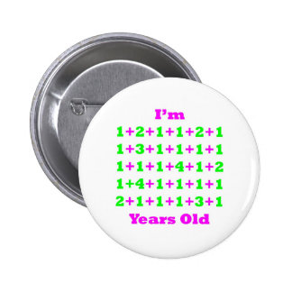 44 Years Old Magenta Gr 6 Cm Round Badge