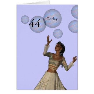 44th Birthday Card