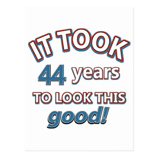 44th birthday designs post card