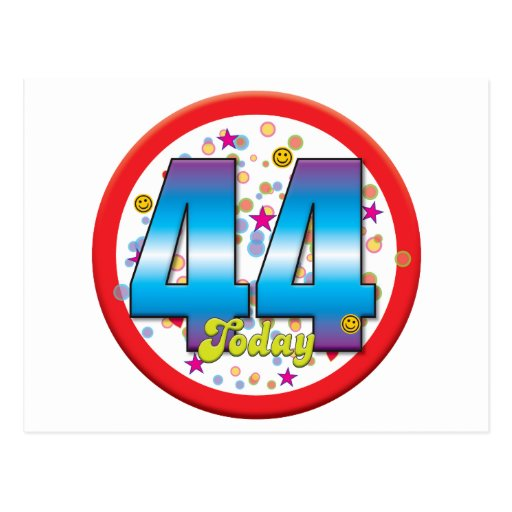 44th Birthday Today v2 Post Card