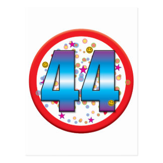 44th Birthday v2 Post Card
