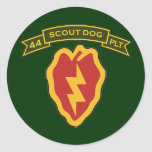 44th IPSD - 25th Infantry Round Stickers