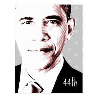 44th - Obama with stars - Postcard