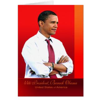 44th President, Barack Obama Greeting Card