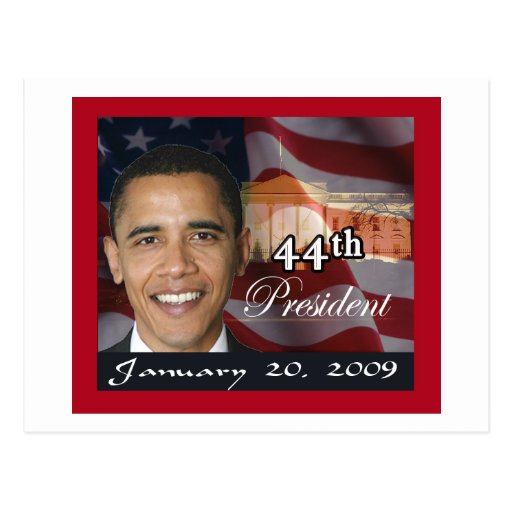 44th President Memorabilia Post Card