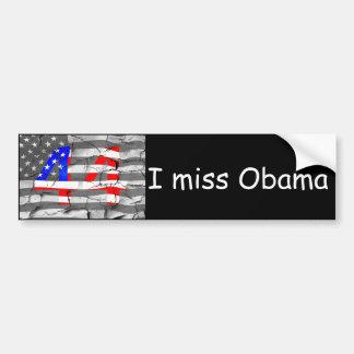 44th President Obama Fan Flag Bumper Sticker