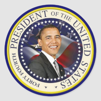 44th President of The United States Round Sticker