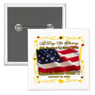 44th President of the USA Gifts and Apparel Button