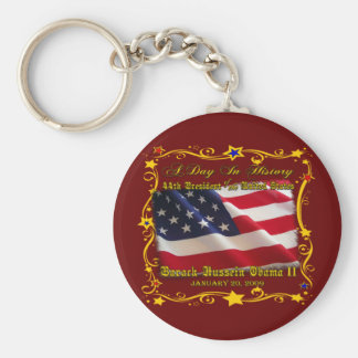 44th President of the USA Gifts and Apparel Basic Round Button Key Ring