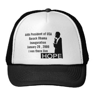 44th President of USA hat-black history month