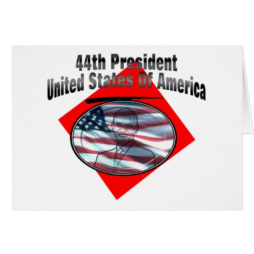 44th President United States Of America Greeting Card