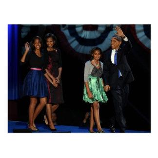 44th USA Presidential Family Postcard-2012 Re-Elec Postcard