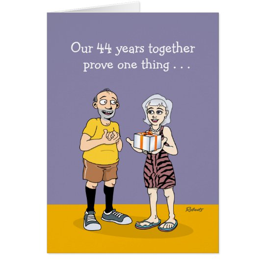 48th Wedding Anniversary Gift Ideas: 44th Wedding Anniversary Card: Love Card