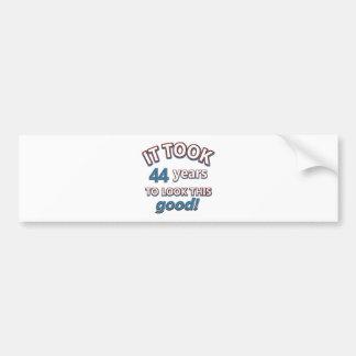 44th year birthday designs bumper sticker