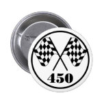 450 Chequered Flag Pin