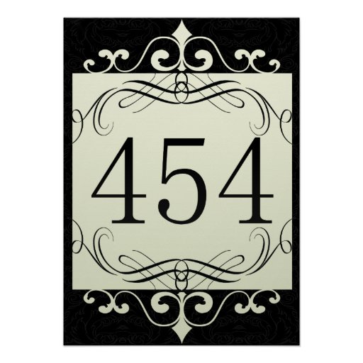 454 Area Code Poster