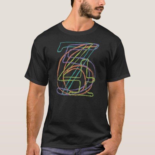 4567 Hand-drawn Typography T-Shirt