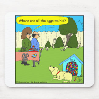 456 Where are the Easter eggs - color cartoon Mouse Pads