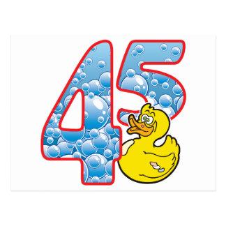 45 Age Duck Postcard