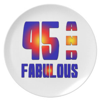 45 And Fabulous Party Plates