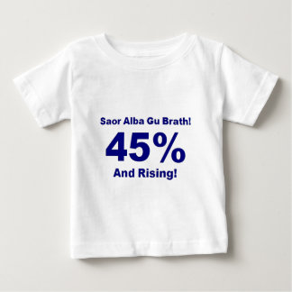 45% And Rising! [on Light background] Baby T-Shirt