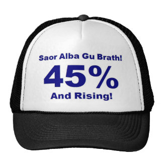 45% And Rising! [on Light background] Mesh Hats