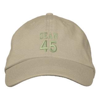 45 Birthday Custom Name OLIVE GREEN Embroidery V2J Baseball Cap
