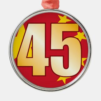 45 CHINA Gold Christmas Ornament