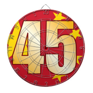 45 CHINA Gold Dartboard