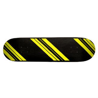 45 Degree Yellow Minimalist art Custom Skateboard