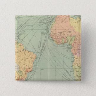 45 lines of communication, Atlantic Ocean 15 Cm Square Badge